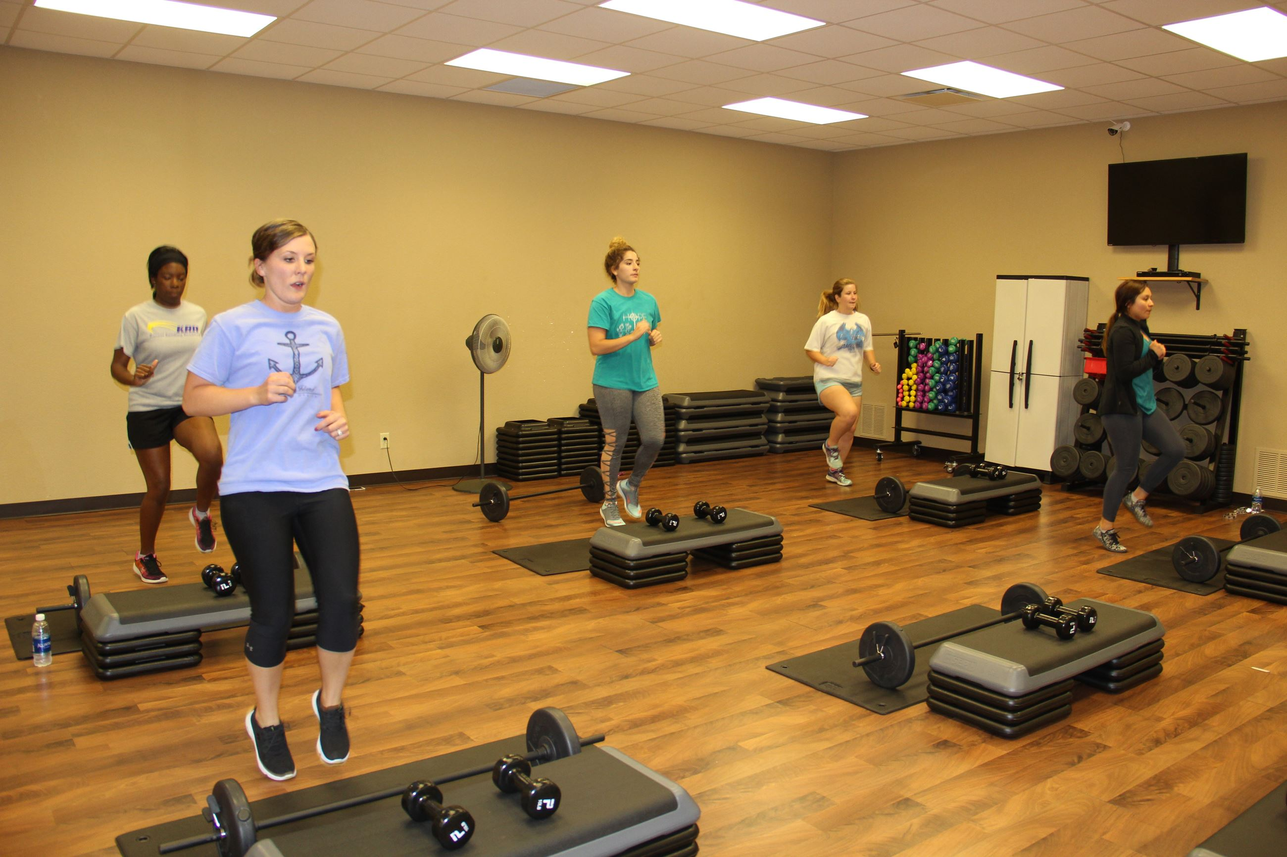 Women in the Rockbottom Workout class